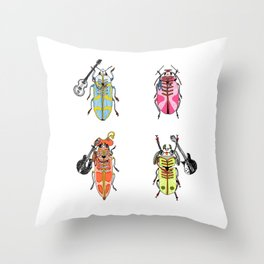 Sergeant Pepper's Lonely Invertebrates Club Throw Pillow