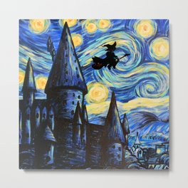 HARRYPOTTER STARY NIGHT Metal Print