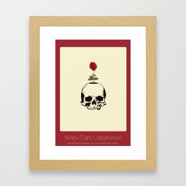 Found In Translation - Wabi-Sabi Framed Art Print