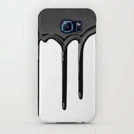 Black paint drip iPhone Case