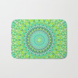 Green Geometric Mandala 0118 Bath Mat