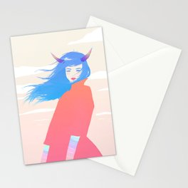 Girl with Horns Stationery Cards
