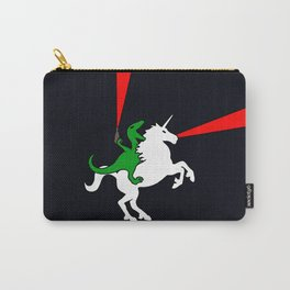 Dinosaur Riding Unicorn (With Lasers) Carry-All Pouch