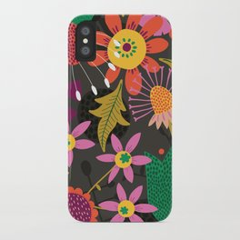 Jungle Flowers iPhone Case