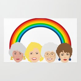 The Golden Girls LGBT Rainbow Pride Rug