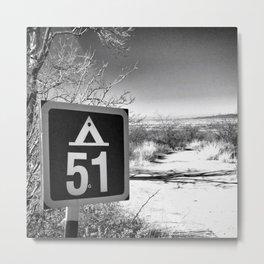 Camping Area 51 Metal Print
