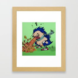 """""""Vomit The Hedgehog"""" (from Farts 'N' Crafts #4) Framed Art Print"""