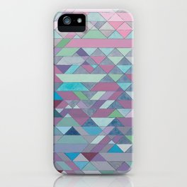 Triangle Pattern no.3 Violet iPhone Case