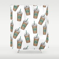 starbucks Shower Curtains featuring Starbucks by eARTh