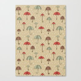 Umbrella pattern Canvas Print