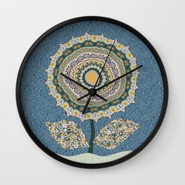 Fabby Flower-Mineral colors Wall Clock