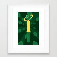 sailor jupiter Framed Art Prints featuring Sailor Jupiter  by StevenCoward