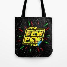 PEW PEW PEW lasers Tote Bag