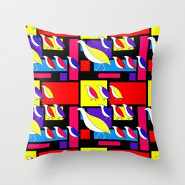 Partridge Parade Throw Pillow