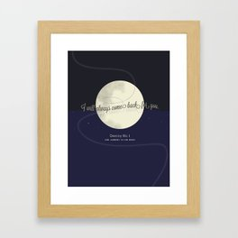Destiny No. 1 | Our journey to the Moon Framed Art Print