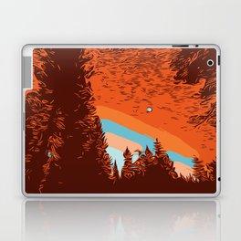 Two Lanes in the Fall Laptop & iPad Skin