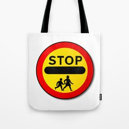Stop Children Traffic Sign Tote Bag