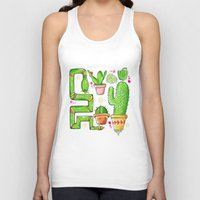 green pattern Tank Tops featuring Green by Grace Sandford