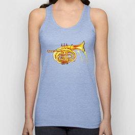 Golden Trumpet on purple Unisex Tank Top