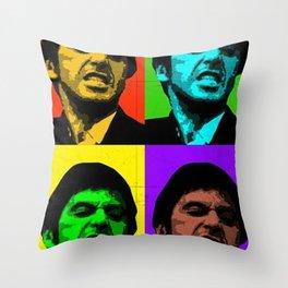 Tony Montana Colorful Scarface Art Throw Pillow