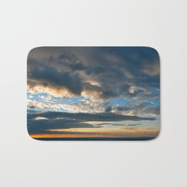Vibrant Sunrise Cloudscape Bath Mat