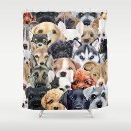 Dog All start, Dog illustration original painting print Shower Curtain