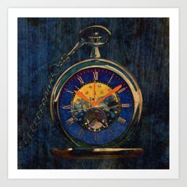 The Transrealmic clock Art Print