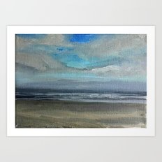 Oregon Coast Beach Shower Curtain Art Print