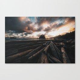 Second Beach at Sunset Canvas Print