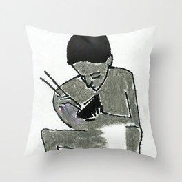 eating Throw Pillow