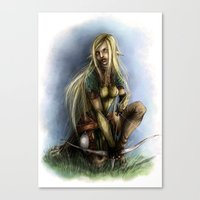 elf Canvas Prints featuring Elf  by Gilthonniel's Shop