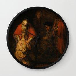 "Rembrandt Harmenszoon van Rijn, ""The Return of the Prodigal Son"", c. 1669 Wall Clock"