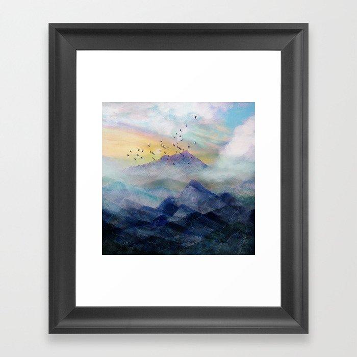 Mountain Sunrise Gerahmter Kunstdruck