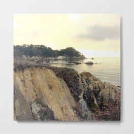Hiking Point Lobos along the cliffs in Carmel, CA Metal Print