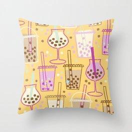 Ice Bubble Pattern Orange Throw Pillow