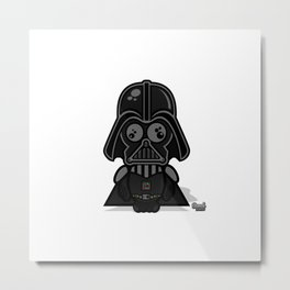 Dumb Vader Metal Print