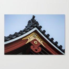 Tempel Roof Canvas Print