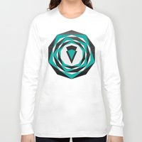arya Long Sleeve T-shirts featuring Decahedron Hexagon combined! by Hinal Arya