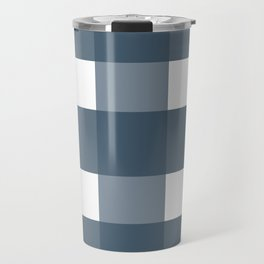 Blue checkered pattern Travel Mug