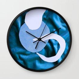 Blue on Blue Wall Clock