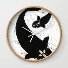 Right Whales From Above Wall Clock