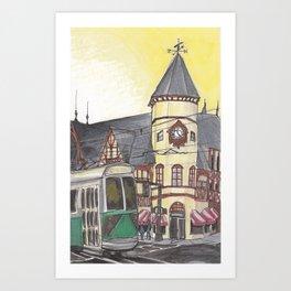 Coolidge Corner Station Art Print