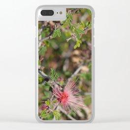 Desert Wildflower Bush Clear iPhone Case