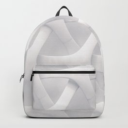 White Pattern Backpack