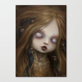 The face of all your fears Canvas Print