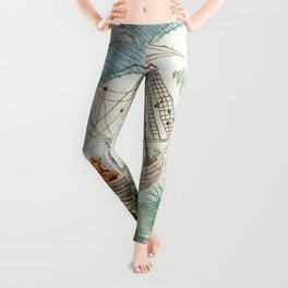 Chinoiserie Embroidery Leggings