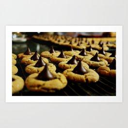 Peanut Butter Kiss Cookies Art Print