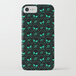 Alien and UFO Pattern iPhone Case