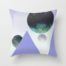 Moontainside lilac Throw Pillow