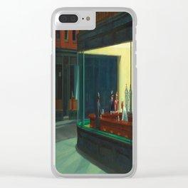 Edward Hopper's Nighthawks Clear iPhone Case